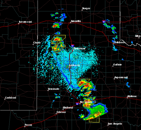 Radar Image for Severe Thunderstorms near Post, TX at 5/20/2020 4:58 PM CDT