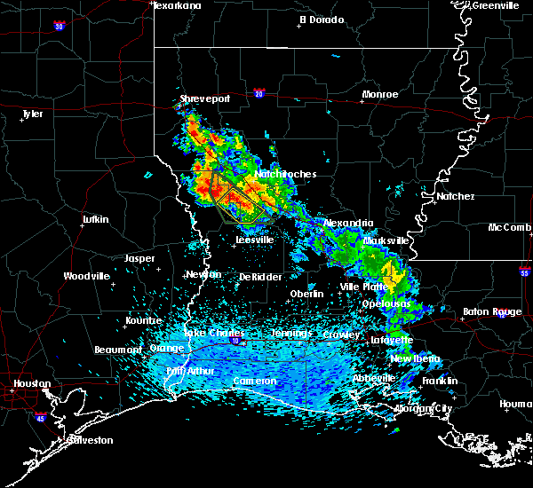 Radar Image for Severe Thunderstorms near Belmont, LA at 5/20/2020 5:24 PM CDT
