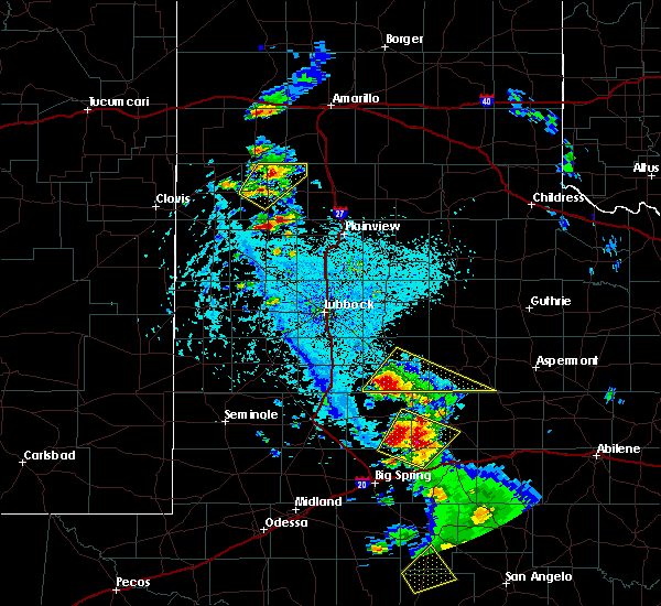 Radar Image for Severe Thunderstorms near Post, TX at 5/20/2020 5:29 PM CDT