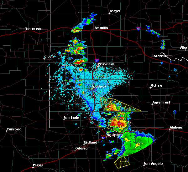 Radar Image for Severe Thunderstorms near Post, TX at 5/20/2020 5:37 PM CDT