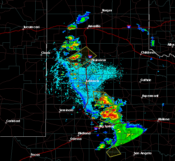 Radar Image for Severe Thunderstorms near Hart, TX at 5/20/2020 5:42 PM CDT
