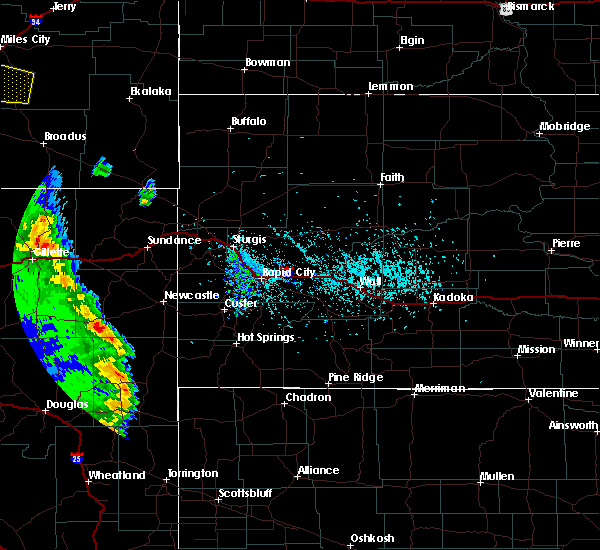 Radar Image for Severe Thunderstorms near Osage, WY at 5/20/2020 4:50 PM MDT