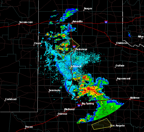 Radar Image for Severe Thunderstorms near Hart, TX at 5/20/2020 6:08 PM CDT
