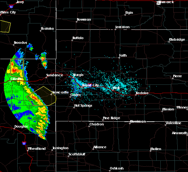 Radar Image for Severe Thunderstorms near Osage, WY at 5/20/2020 5:09 PM MDT