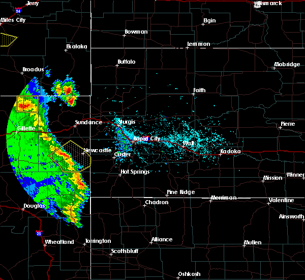 Radar Image for Severe Thunderstorms near Osage, WY at 5/20/2020 5:21 PM MDT