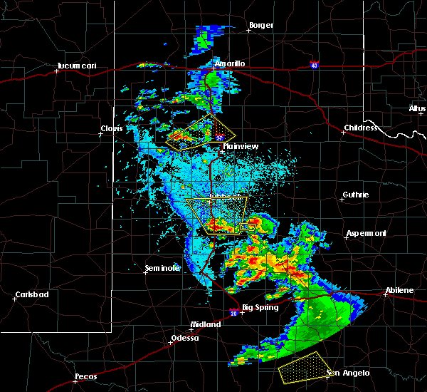 Radar Image for Severe Thunderstorms near Crosbyton, TX at 5/20/2020 6:25 PM CDT