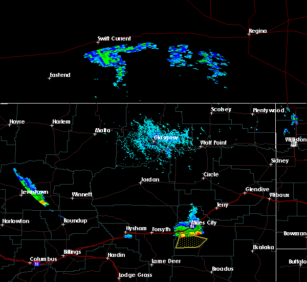 Radar Image for Severe Thunderstorms near Miles City, MT at 5/20/2020 5:26 PM MDT