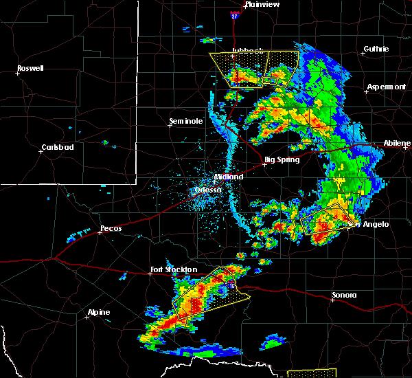 Radar Image for Severe Thunderstorms near Sanderson, TX at 5/20/2020 6:28 PM CDT