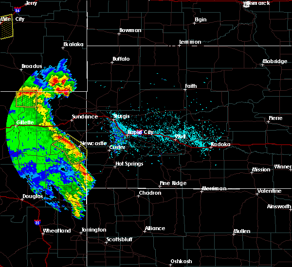 Radar Image for Severe Thunderstorms near Osage, WY at 5/20/2020 5:36 PM MDT
