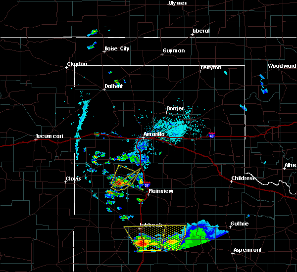Radar Image for Severe Thunderstorms near Hart, TX at 5/20/2020 6:37 PM CDT