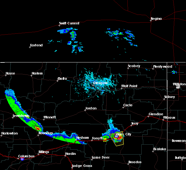 Radar Image for Severe Thunderstorms near Miles City, MT at 5/20/2020 5:53 PM MDT