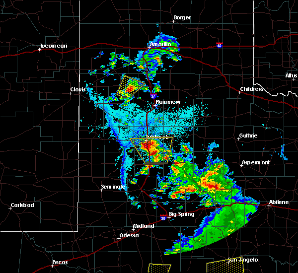 Radar Image for Severe Thunderstorms near New Deal, TX at 5/20/2020 6:56 PM CDT