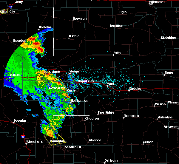 Radar Image for Severe Thunderstorms near Beulah, WY at 5/20/2020 6:20 PM MDT