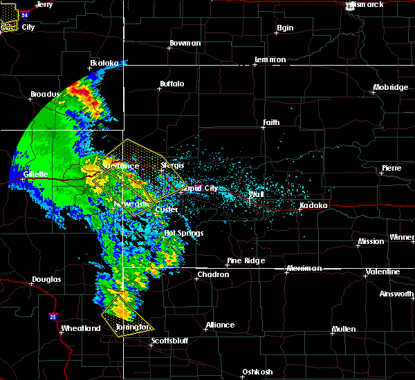 Radar Image for Severe Thunderstorms near Beulah, WY at 5/20/2020 6:33 PM MDT