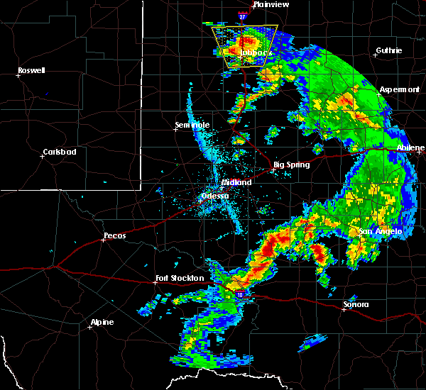 Radar Image for Severe Thunderstorms near Big Lake, TX at 5/20/2020 7:34 PM CDT