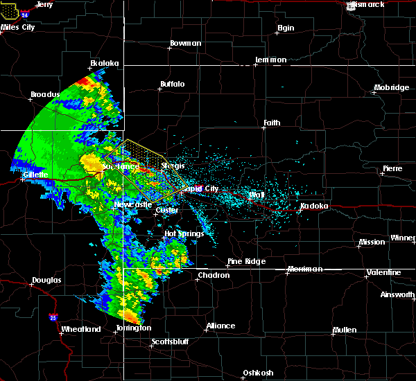 Radar Image for Severe Thunderstorms near Fruitdale, SD at 5/20/2020 6:50 PM MDT