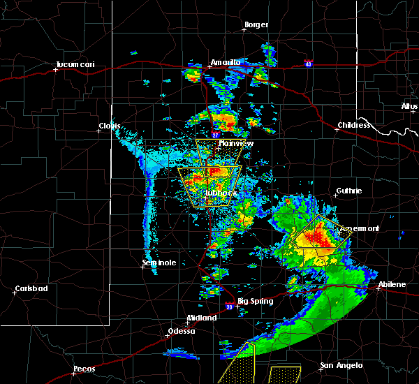 Radar Image for Severe Thunderstorms near Petersburg, TX at 5/20/2020 7:52 PM CDT
