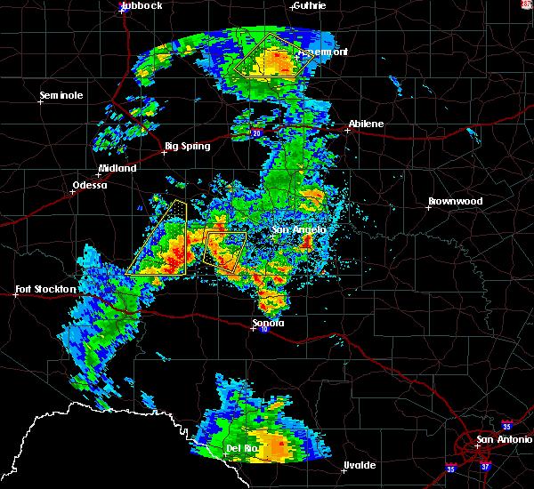 Radar Image for Severe Thunderstorms near Big Lake, TX at 5/20/2020 8:08 PM CDT