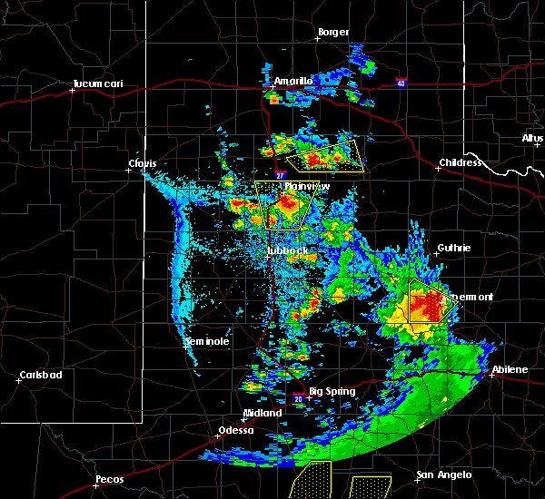 Radar Image for Severe Thunderstorms near Petersburg, TX at 5/20/2020 8:18 PM CDT