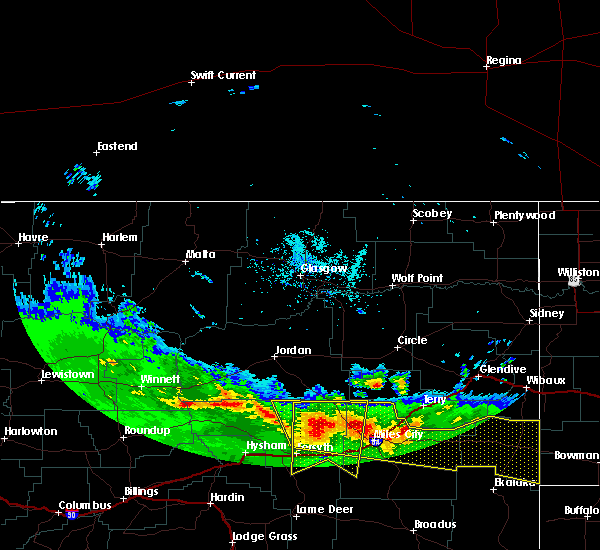 Radar Image for Severe Thunderstorms near Miles City, MT at 5/20/2020 7:27 PM MDT