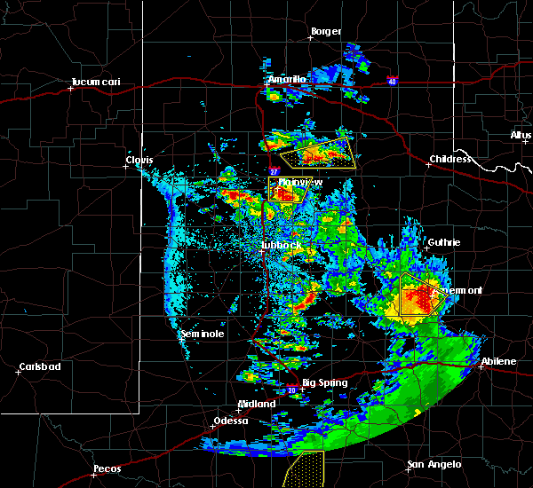 Radar Image for Severe Thunderstorms near Hart, TX at 5/20/2020 8:28 PM CDT