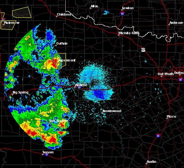 Radar Image for Severe Thunderstorms near Aspermont, TX at 5/20/2020 8:33 PM CDT
