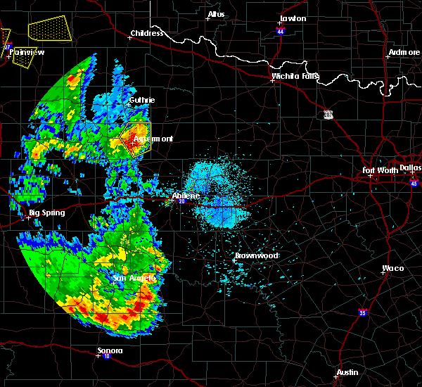 Radar Image for Severe Thunderstorms near Aspermont, TX at 5/20/2020 8:44 PM CDT