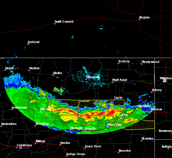 Radar Image for Severe Thunderstorms near Terry, MT at 5/20/2020 7:58 PM MDT