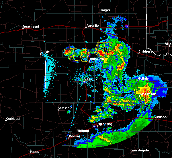 Radar Image for Severe Thunderstorms near Hart, TX at 5/20/2020 9:11 PM CDT