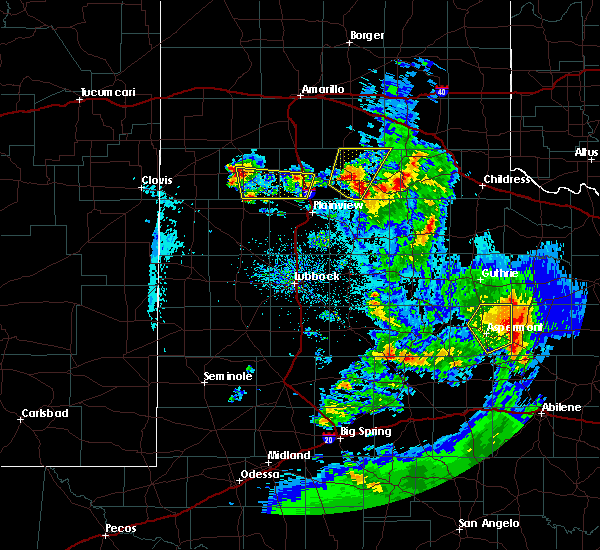 Radar Image for Severe Thunderstorms near Hart, TX at 5/20/2020 9:20 PM CDT