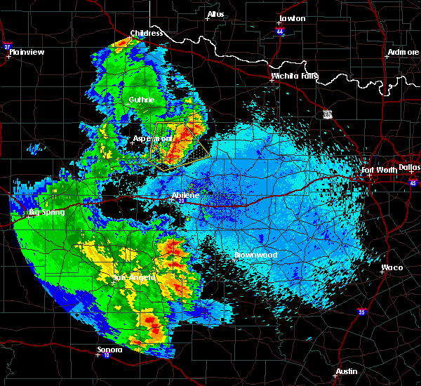 Radar Image for Severe Thunderstorms near Stamford, TX at 5/20/2020 10:17 PM CDT