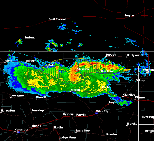 Radar Image for Severe Thunderstorms near Flaxville, MT at 5/20/2020 9:38 PM MDT