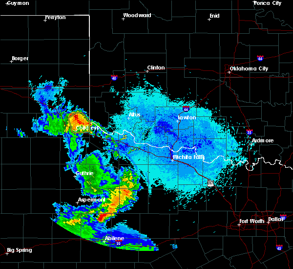 Radar Image for Severe Thunderstorms near Childress, TX at 5/20/2020 10:50 PM CDT