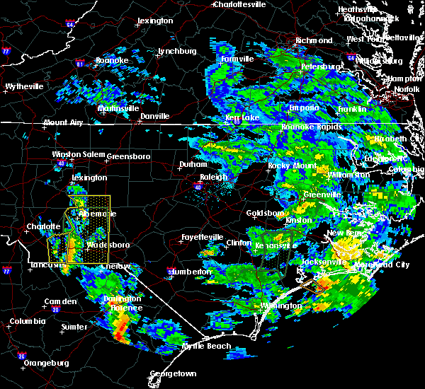 Radar Image for Severe Thunderstorms near Ansonville, NC at 5/21/2020 1:57 PM EDT