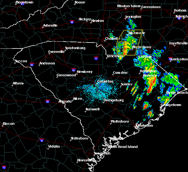 Radar Image for Severe Thunderstorms near Ansonville, NC at 5/21/2020 2:30 PM EDT