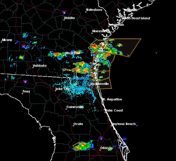 Radar Image for Severe Thunderstorms near Yulee, FL at 5/21/2020 5:01 PM EDT