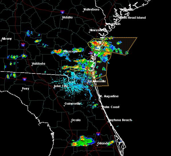 Radar Image for Severe Thunderstorms near Yulee, FL at 5/21/2020 5:16 PM EDT