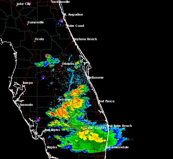 Radar Image for Severe Thunderstorms near Tangerine, FL at 5/21/2020 5:37 PM EDT