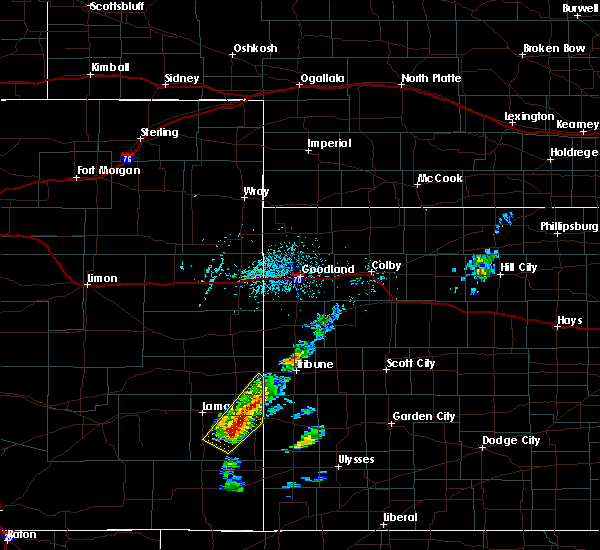 Radar Image for Severe Thunderstorms near Hartman, CO at 5/21/2020 3:46 PM MDT