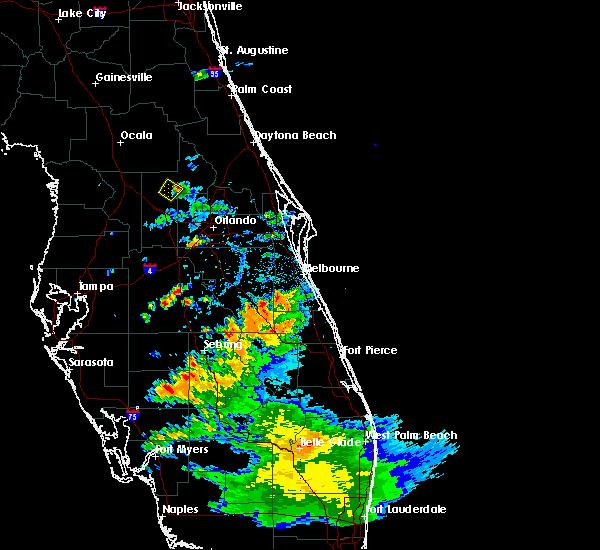 Radar Image for Severe Thunderstorms near Tangerine, FL at 5/21/2020 5:59 PM EDT