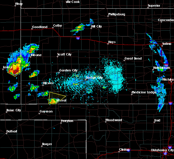 Radar Image for Severe Thunderstorms near Kismet, KS at 5/21/2020 5:12 PM CDT