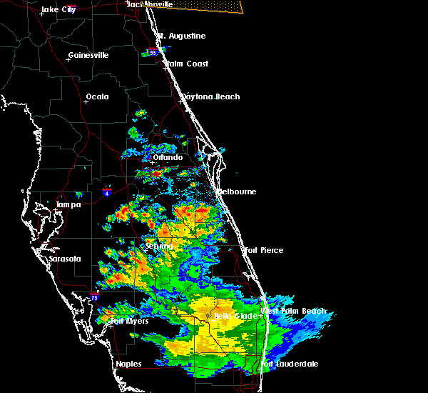 Radar Image for Severe Thunderstorms near Buenaventura Lakes, FL at 5/21/2020 6:18 PM EDT