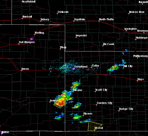 Radar Image for Severe Thunderstorms near Holly, CO at 5/21/2020 4:21 PM MDT