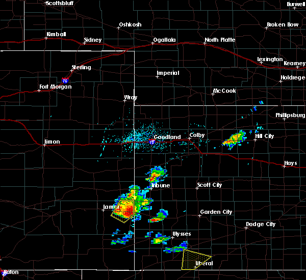 Radar Image for Severe Thunderstorms near Hartman, CO at 5/21/2020 4:23 PM MDT