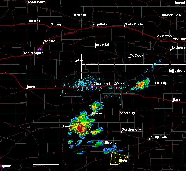 Radar Image for Severe Thunderstorms near Holly, CO at 5/21/2020 4:33 PM MDT