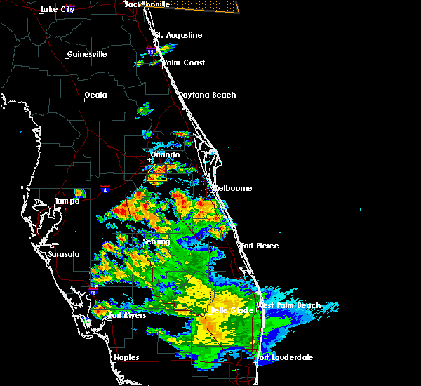 Radar Image for Severe Thunderstorms near Buenaventura Lakes, FL at 5/21/2020 6:33 PM EDT