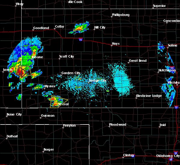 Radar Image for Severe Thunderstorms near Kismet, KS at 5/21/2020 5:36 PM CDT