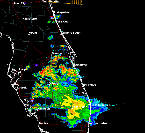 Radar Image for Severe Thunderstorms near Buenaventura Lakes, FL at 5/21/2020 6:47 PM EDT