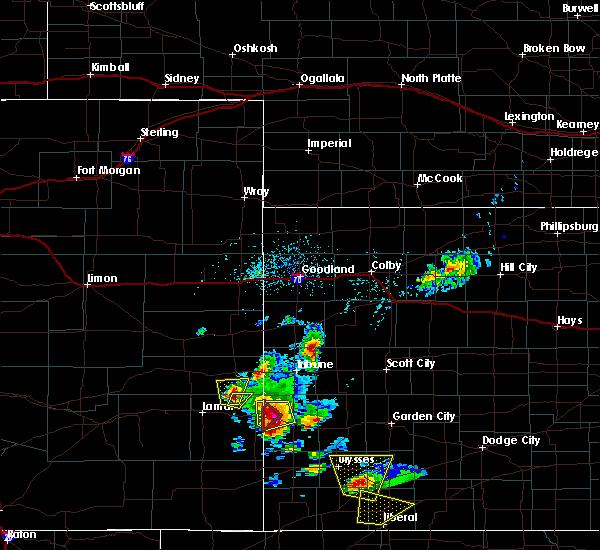 Radar Image for Severe Thunderstorms near Syracuse, KS at 5/21/2020 4:56 PM MDT