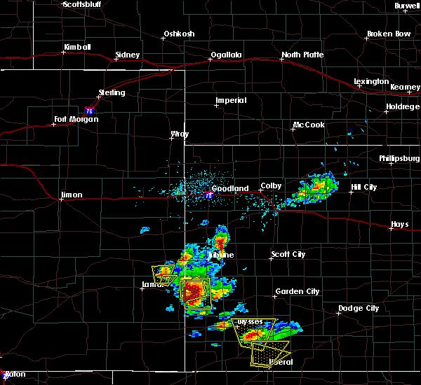 Radar Image for Severe Thunderstorms near Syracuse, KS at 5/21/2020 5:05 PM MDT